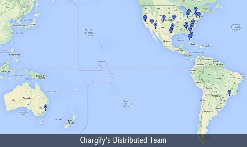 Chargify remote work team