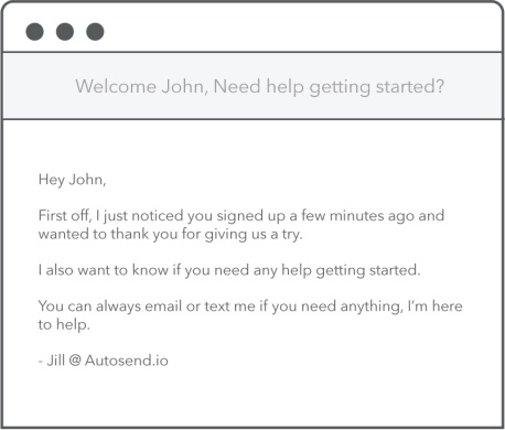 autosend welcome email
