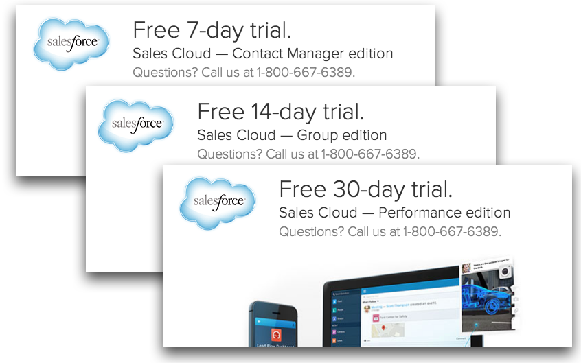 SaaS trial length SalesForce