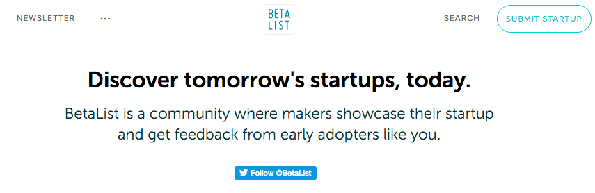 Get First Startup Customers BetaList