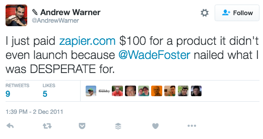 Warner is First Startup Customer