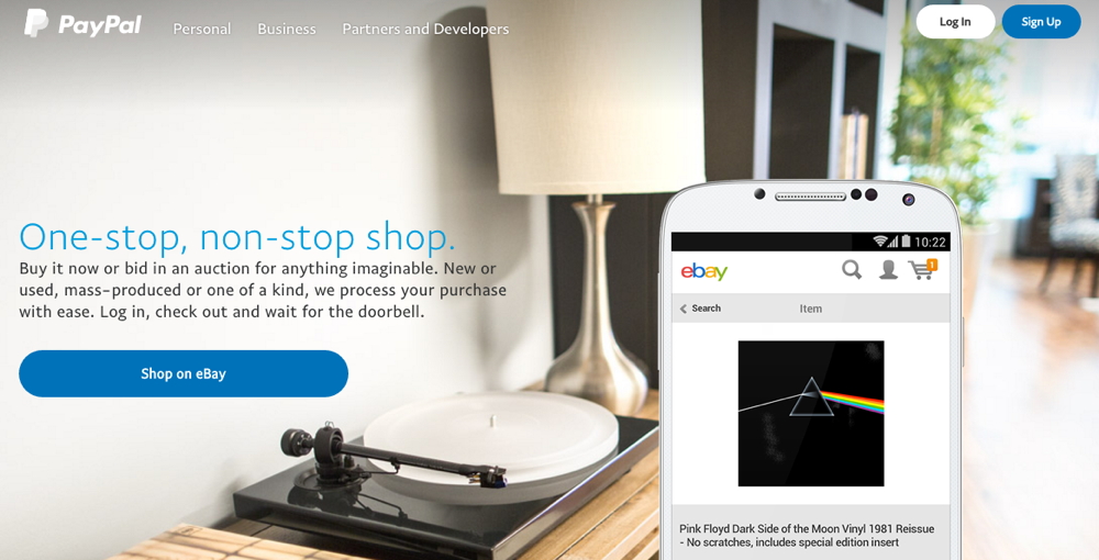 paypal ebay product market fit