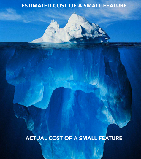 actual cost of small product feature