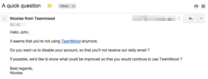 teammood last chance user email