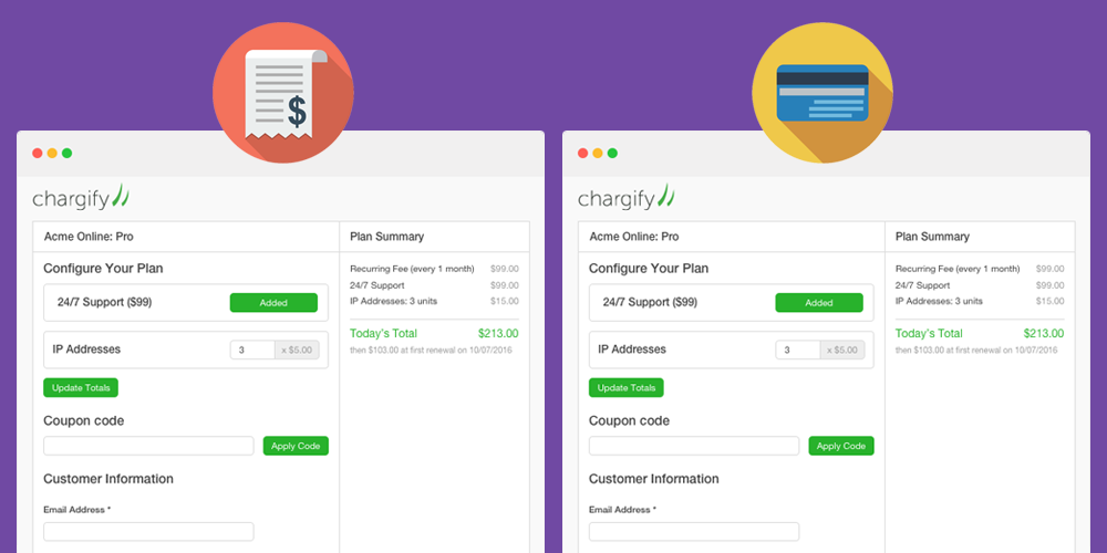 invoice billing settings for public signup pages