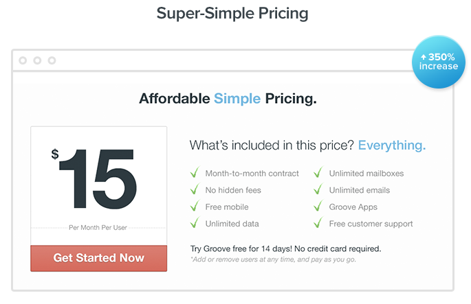 groove simple saas pricing
