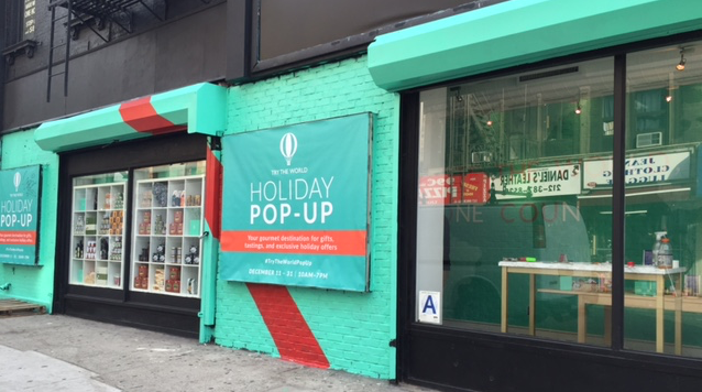 try the world holiday popup store