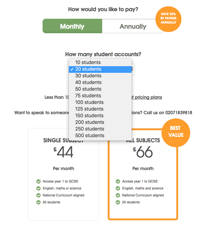B2B Pricing students highlighted EdPlace
