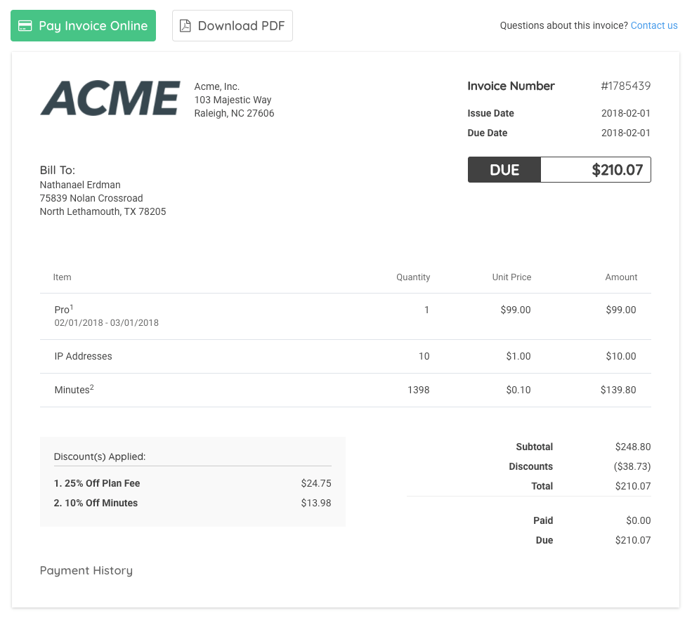 Redesigned Reengineered And Reimagined Invoices Deliver Advanced - Invoice bill