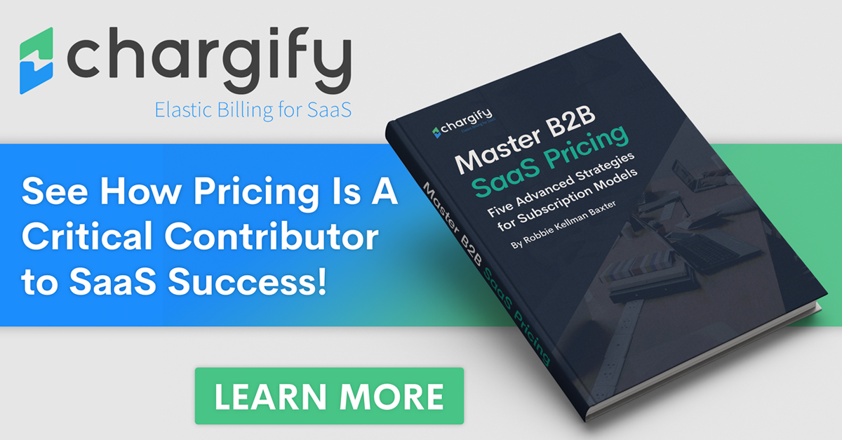 "Banner promoting Chargify's eBook, ""Master B2B SaaS Pricing"""
