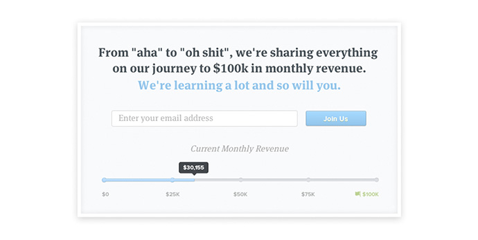 "Header image from Groove's blog series ""A SaaS Startup's Journey to $100,000 in Monthly Revenue"""