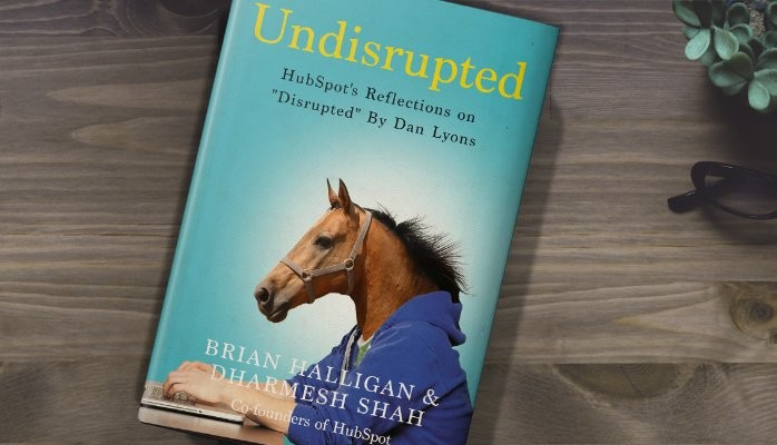 "Cover of Dharmesh Shah's book ""Undisrupted"""