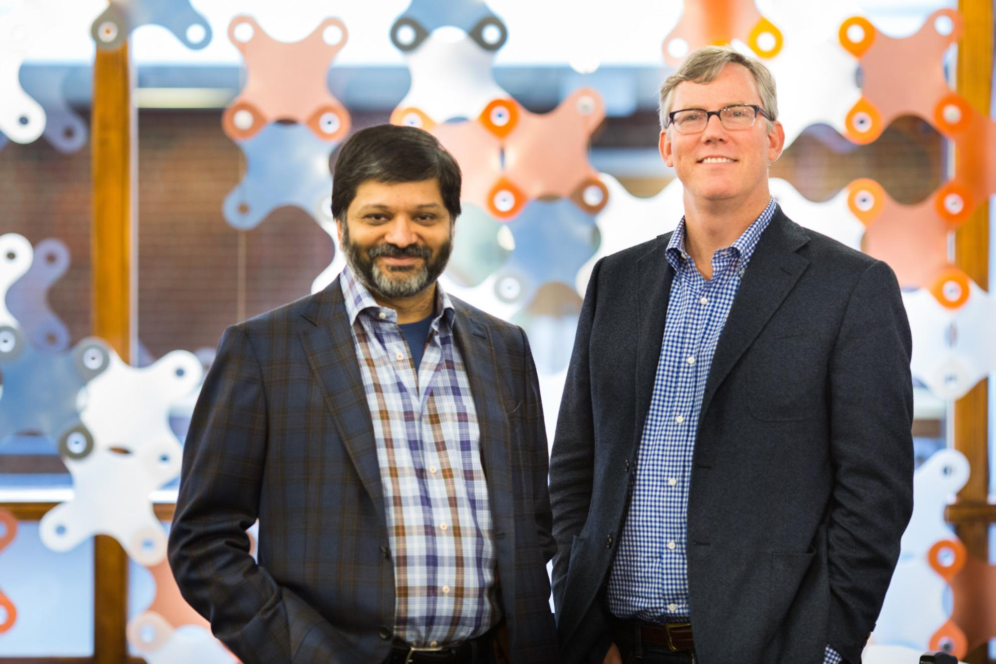 Photo of Hubspot founders Brian Halligan and Dharmesh Shash