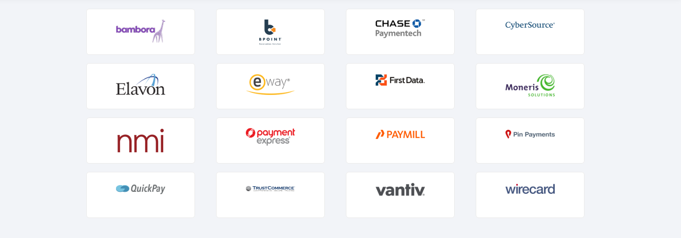 Chargify payment integrations