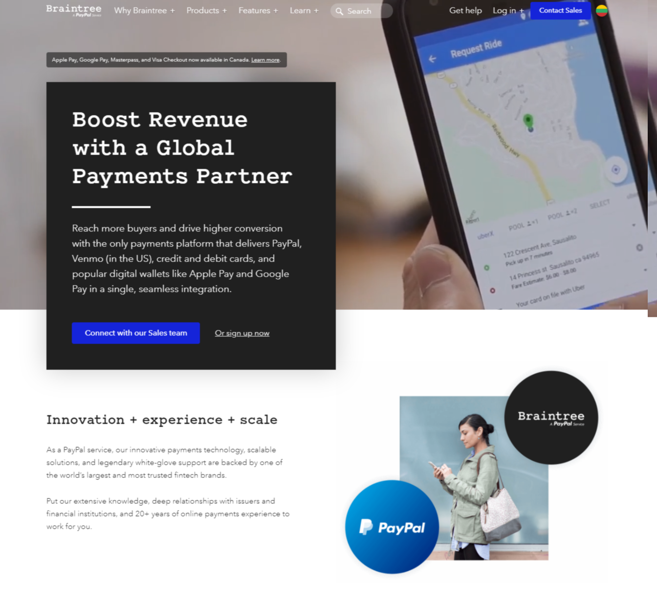 Braintree Payment Processing Tool Webpage