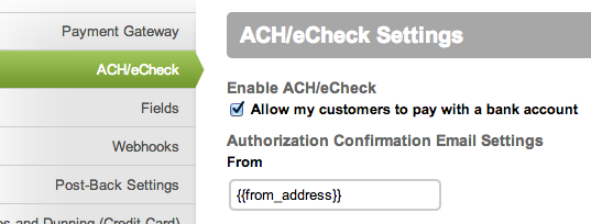 Chargify ACH/eCheck Support is Here!
