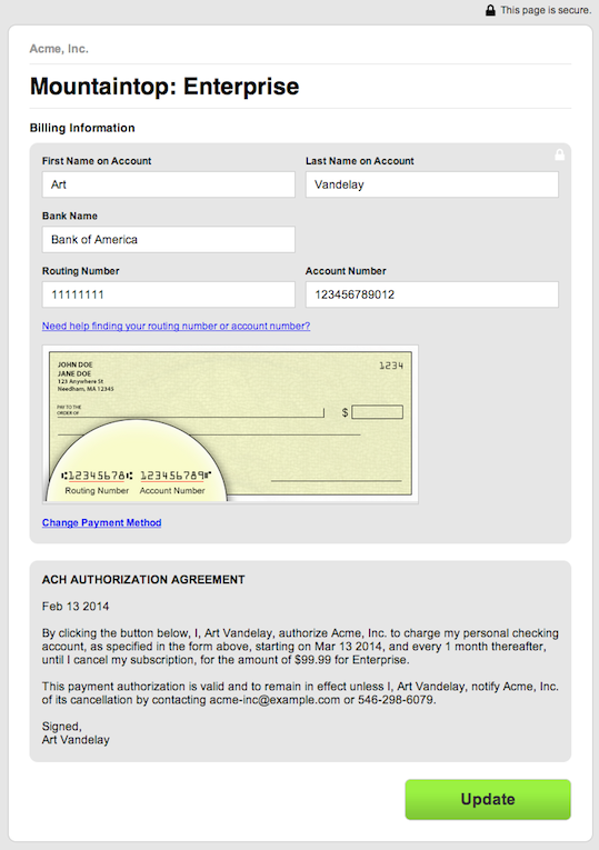 E Check Authorization Form Heartpulsar